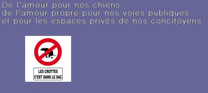Aux habitants de Sognolles-en-Montois «Propriétaires de chiens»