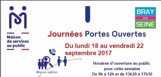 PORTES OUVERTES  – Maison de Services Au Public – Bray Sur Seine